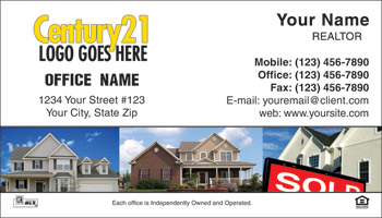 Century 21 Business Card Design 05